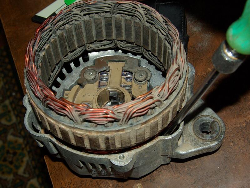 Ремонт генератора приора с кондиционером своими руками 17