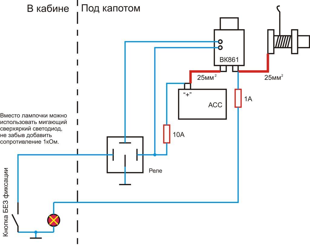электропускатель-схема подключения